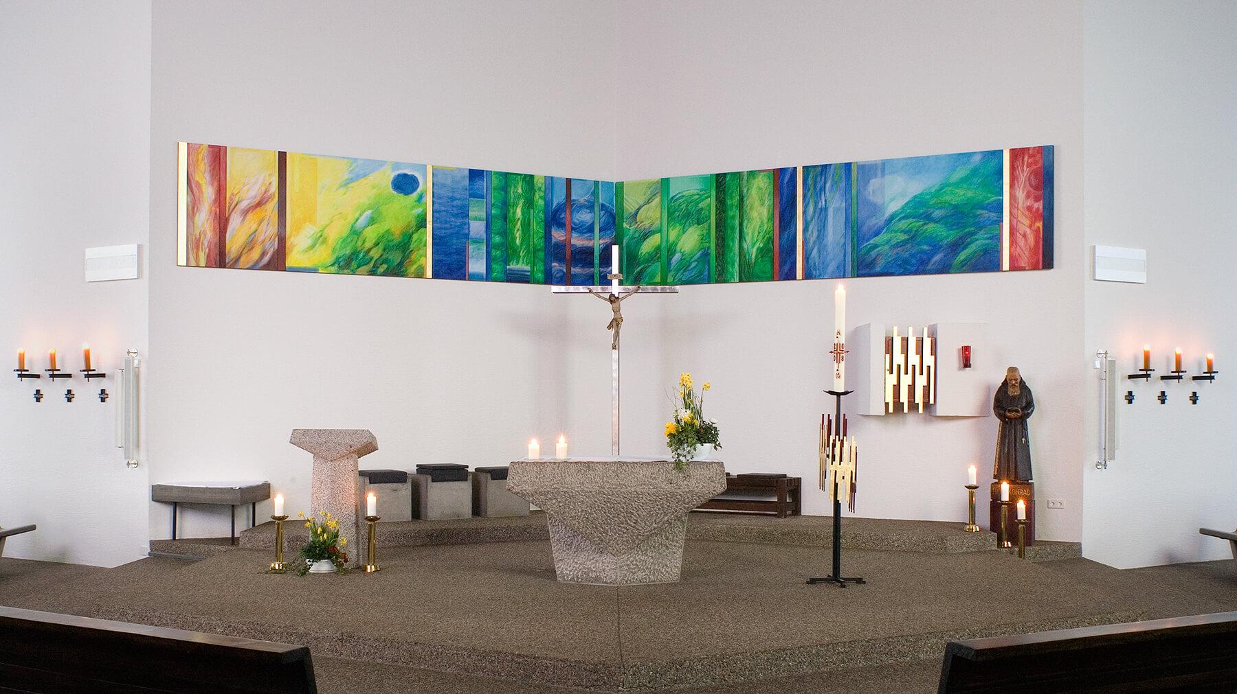 Barbara Jäger OMI Riesterer Werke in Kirchen St. Konad Karlsruhe-Hohenwettersbach