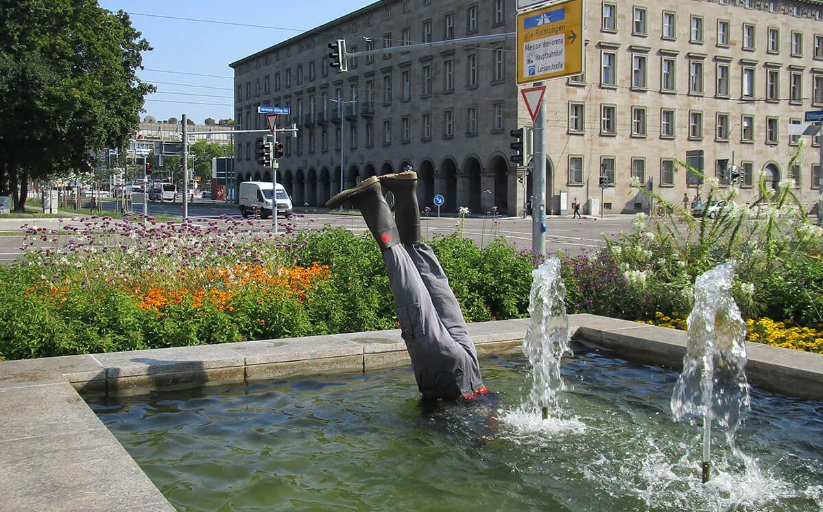 Wasserspringer Karlsruhe Medienhype Barbara Jäger OMI Riesterer