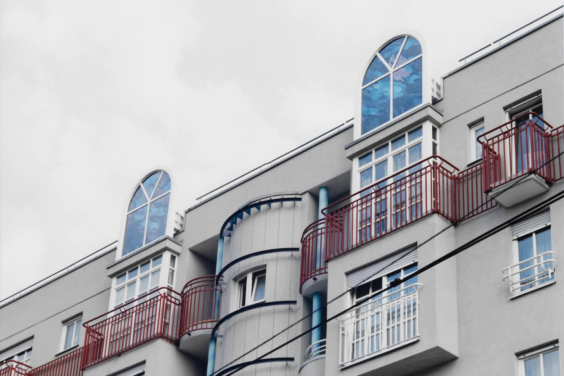 Barbara Jäger OMI Riesterer Gemeinsame öffentliche Werke Himmelsfenster Fassadengestaltung Binding Areal Karlsruhe