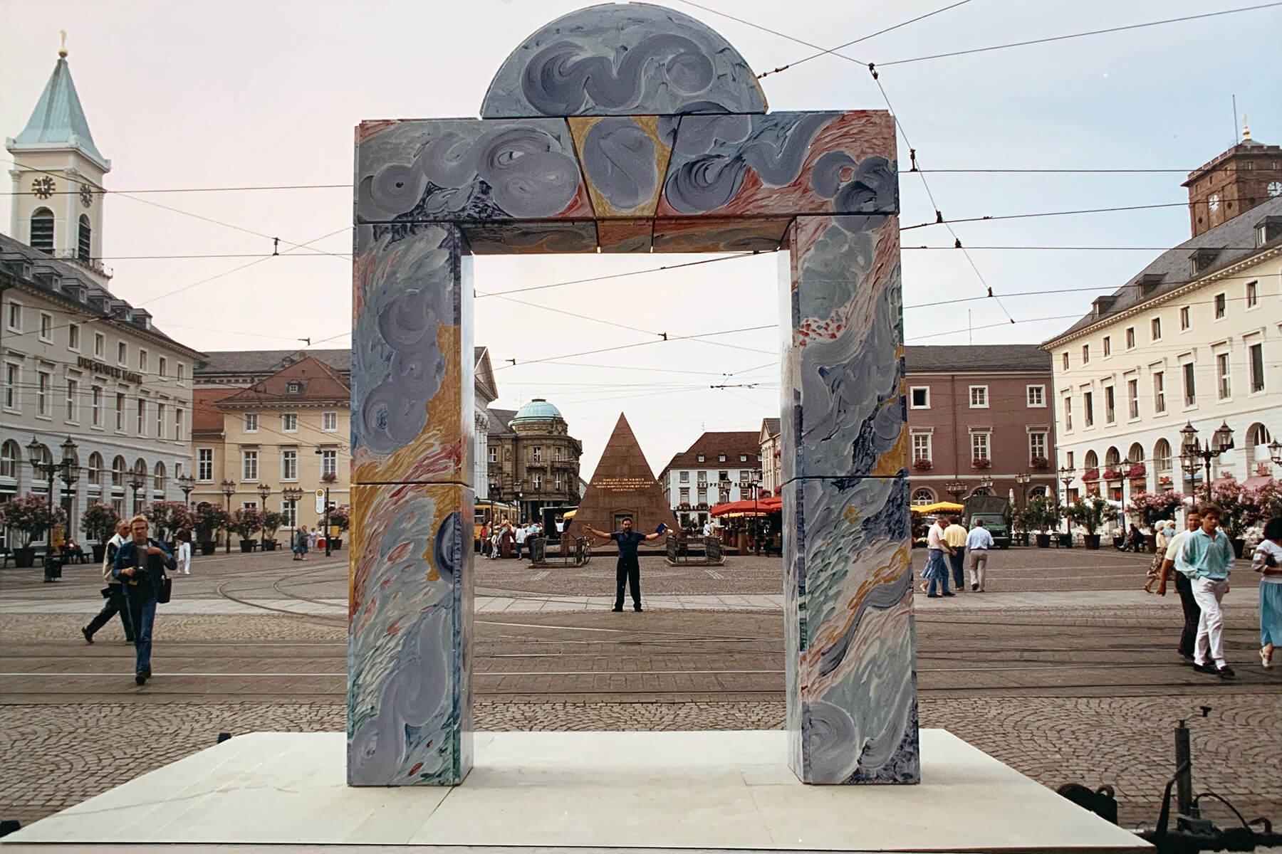 Barbara Jäger OMI Riesterer Gemeinsame öffentliche Werke Karlsruher Tor Marktplatz