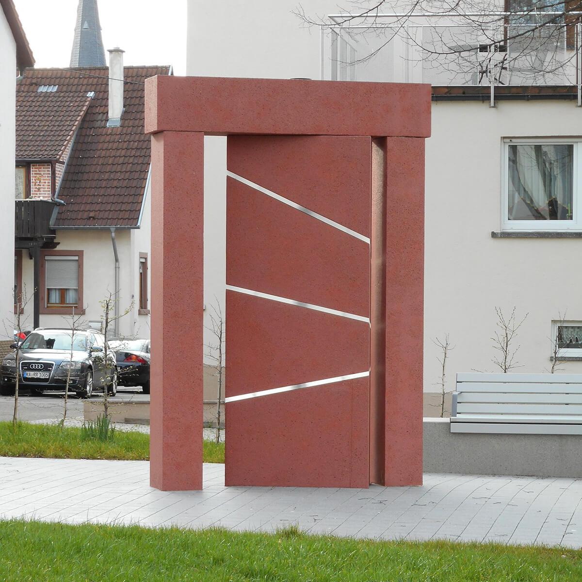 Barbara Jäger OMI Riesterer Gemeinsame öffentliche Werke Waldenser Denkmal Karlsruhe Palmbach