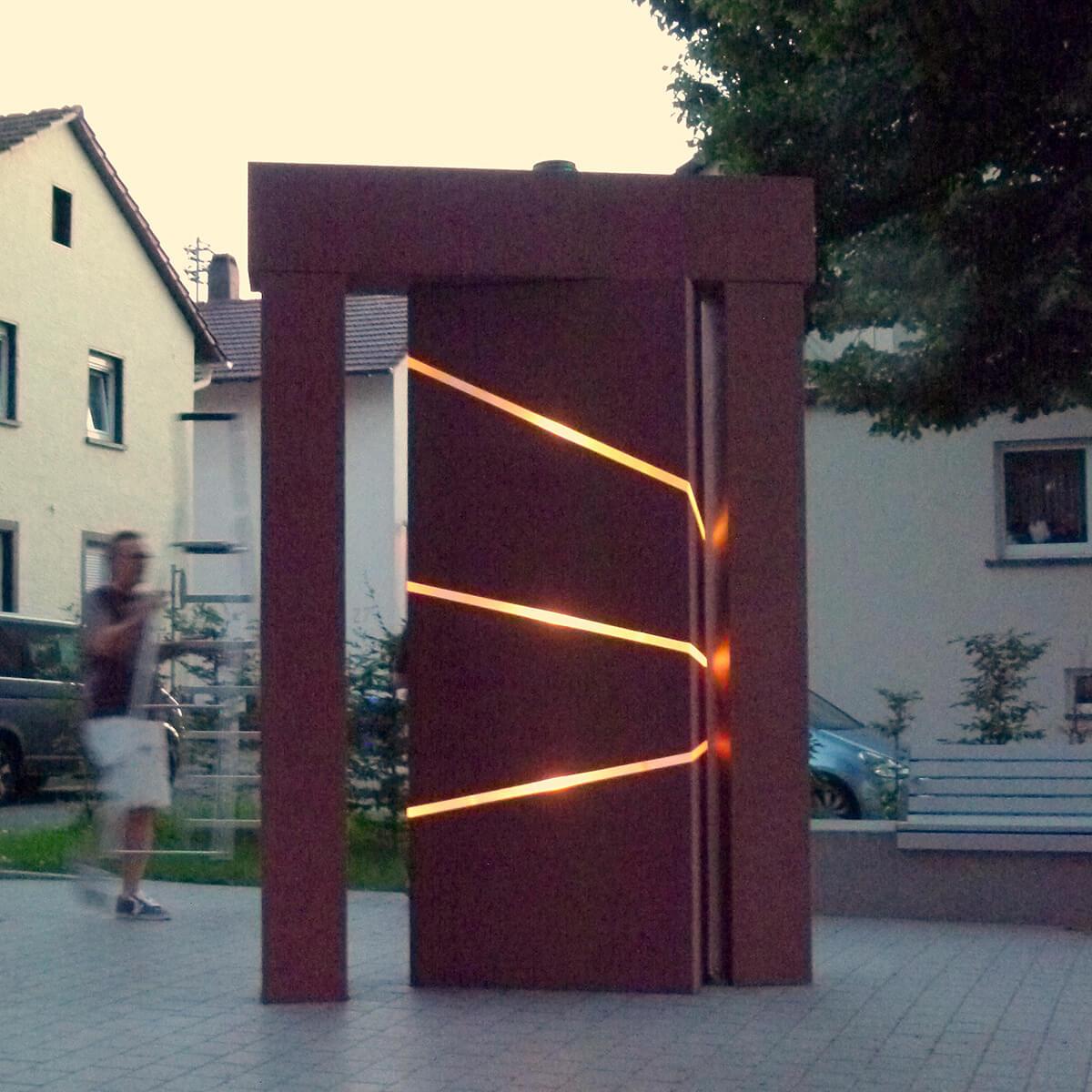Barbara Jäger OMI Riesterer Gemeinsame öffentliche Werke Waldenser Denkmal Karlsruher Palmbach