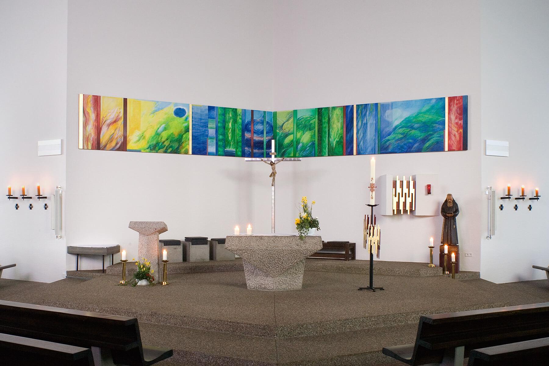 Barbara Jäger OMI Riesterer Werke in Kirchen St. Konrad Karlsruhe-Hohenwettersbach