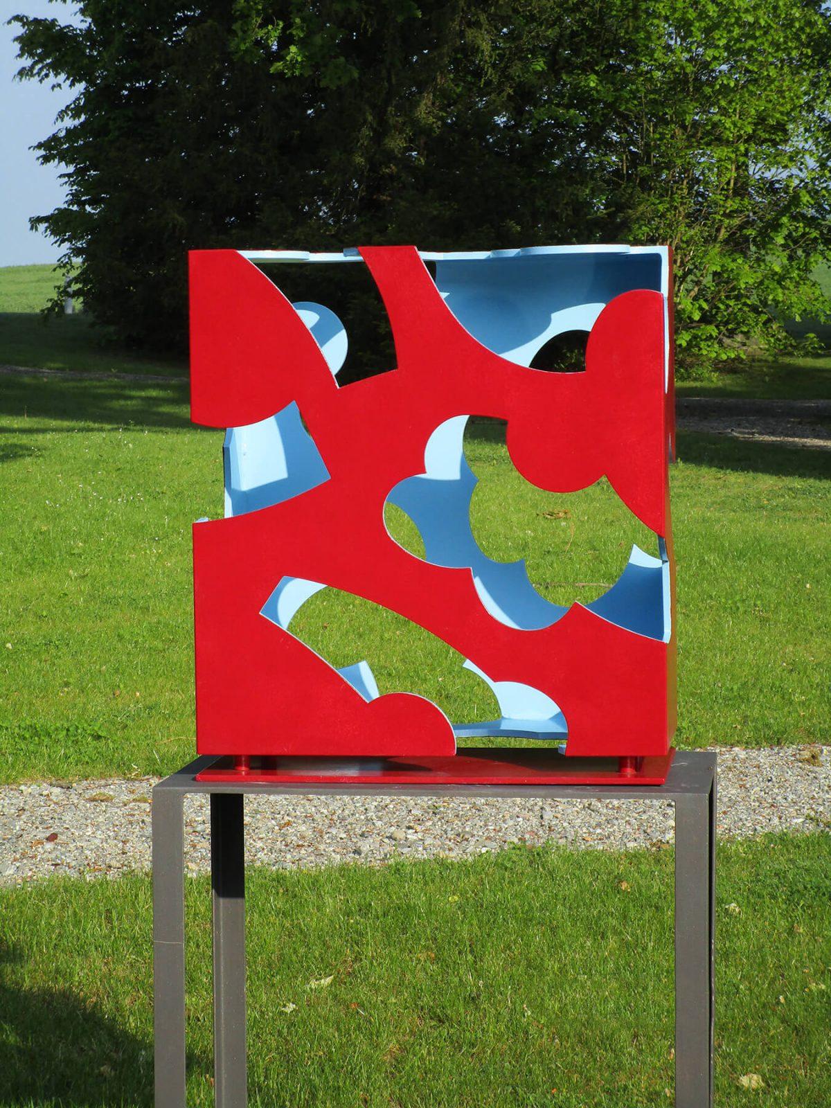 Barbara Jäger Skulpturen Inside Out Stahl Lack