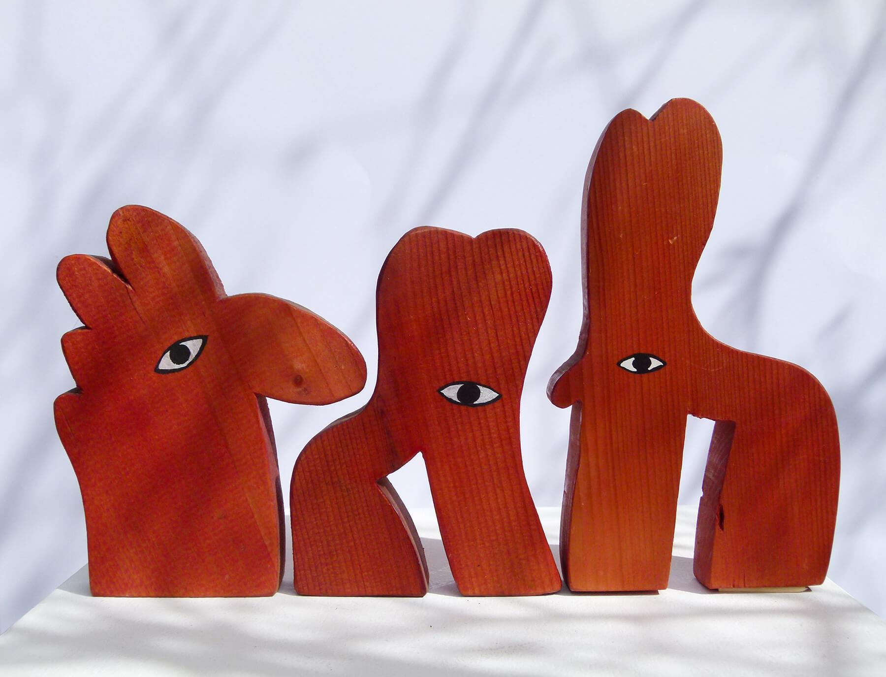 Barbara Jäger Skulpturen Augentiere Holz