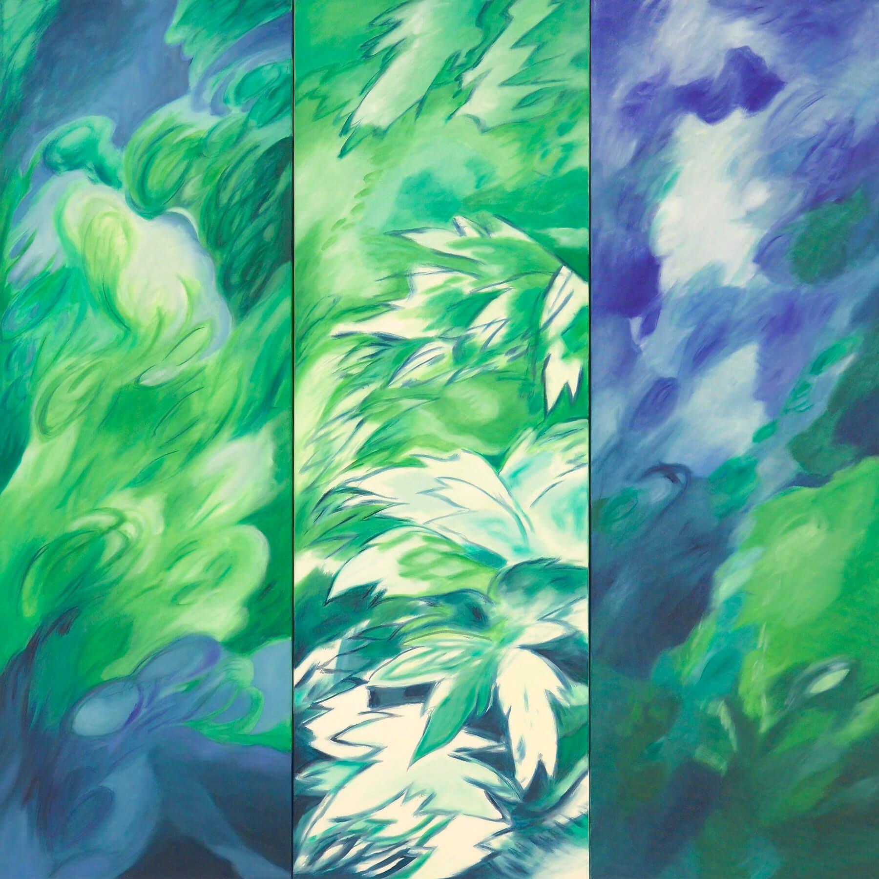 Barbara Jäger Karlsruhe Triptychon Öl auf Leinwand