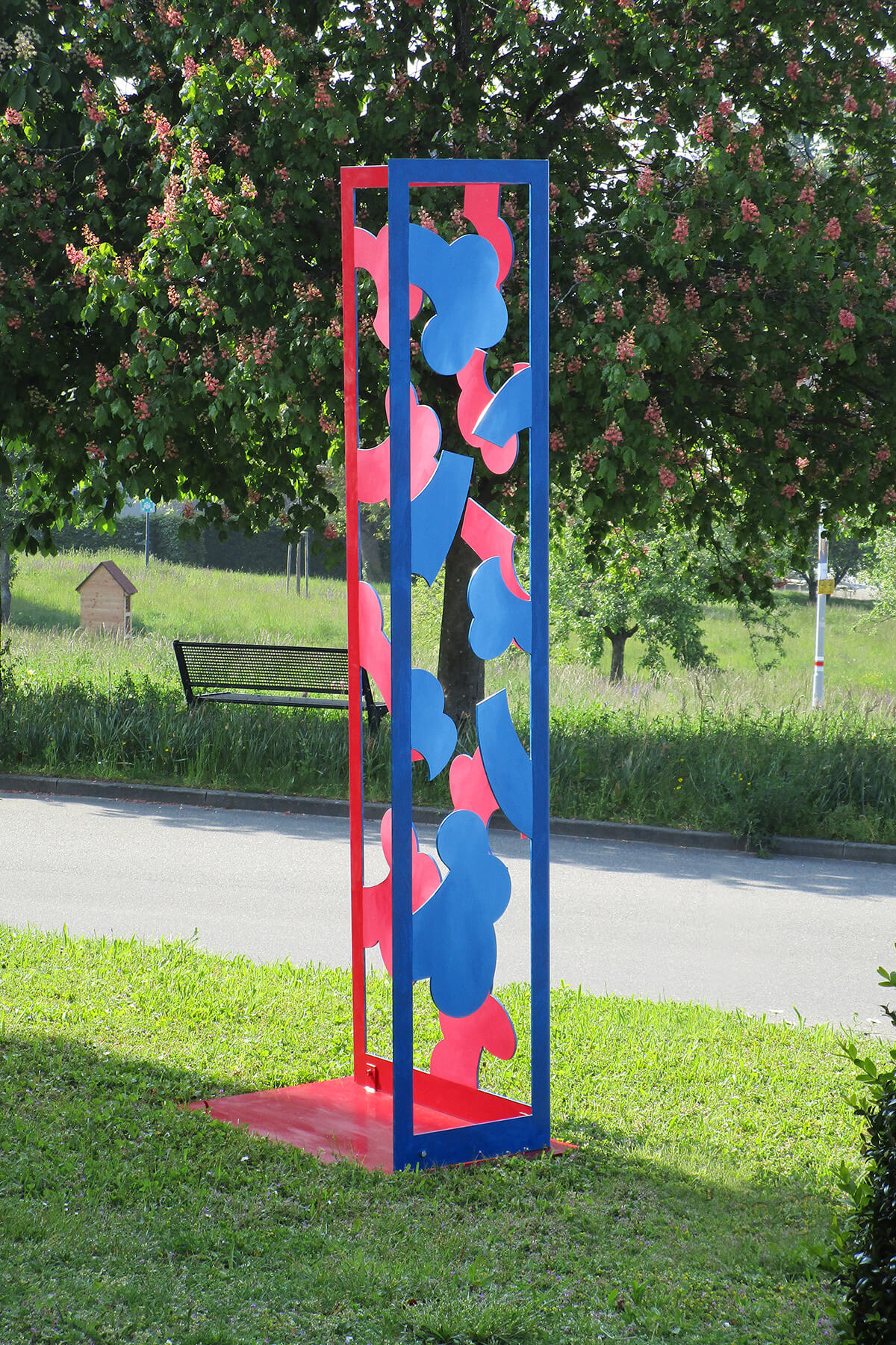 Barbara Jäger Skulpturen Gartenwinkel Stahl Lack