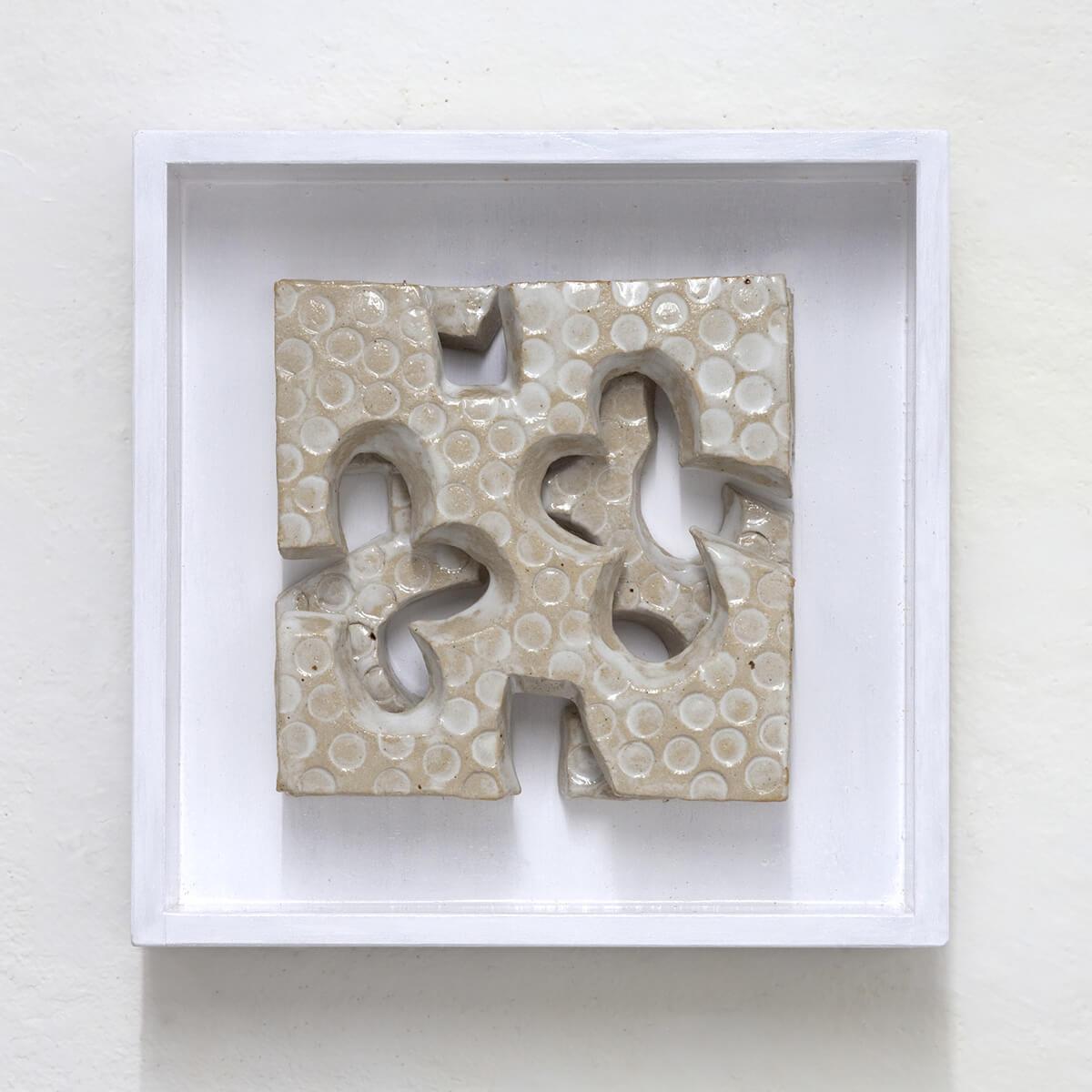 Barbara Jäger Skulpturen Fleur blanches Keramik Holzkasten
