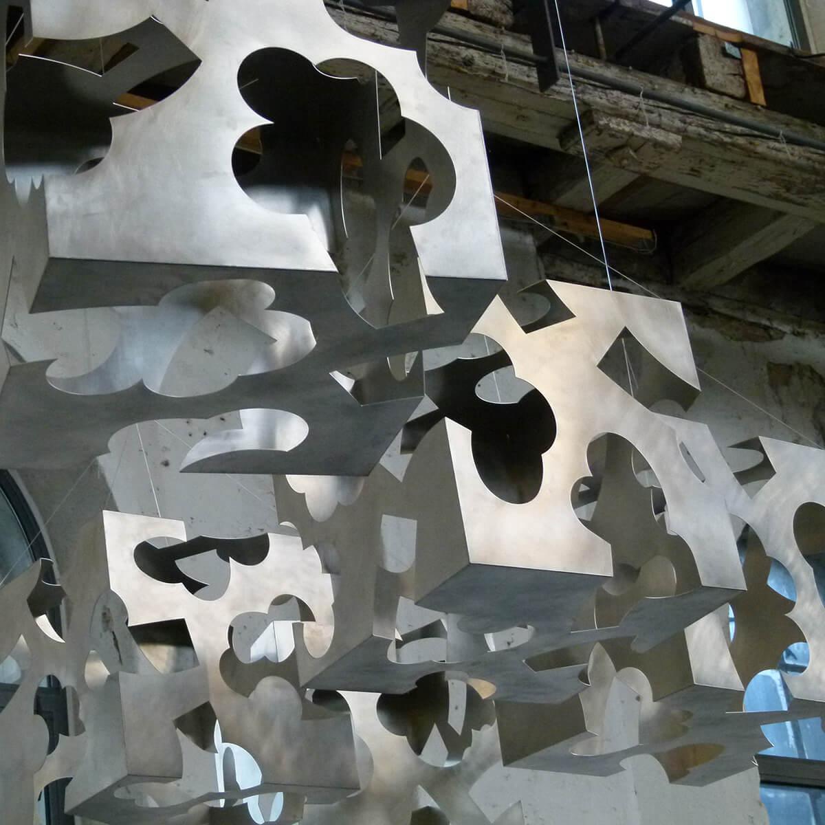 Barbara Jäger Malerei Skulptur Karlsruhe Hängende Gärten Orgelfabrik Durlach Aluminium