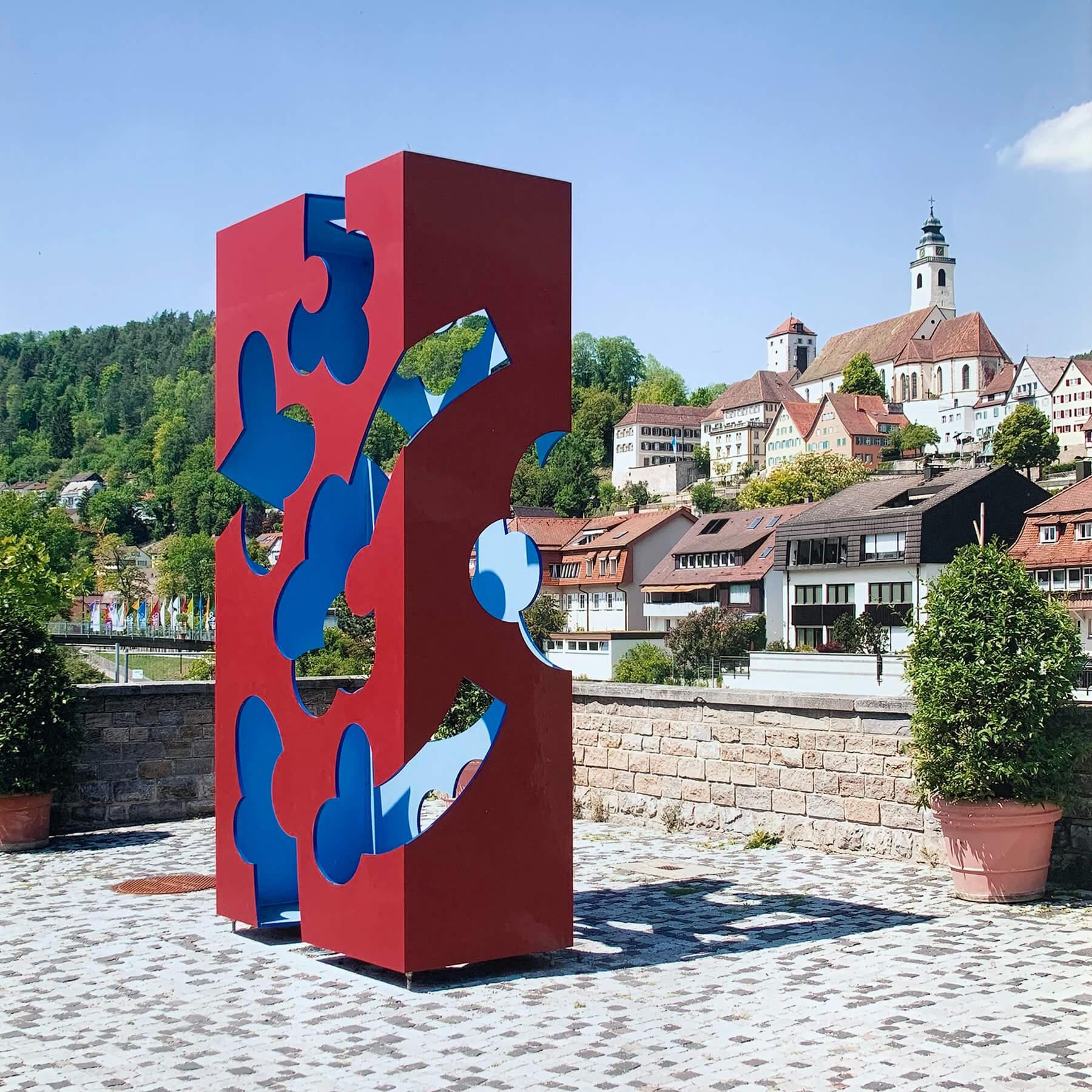 Barbara Jäger Malerei Skulptur Karlsruhe Künstlerisches Stadtzeichen Horb am Neckar