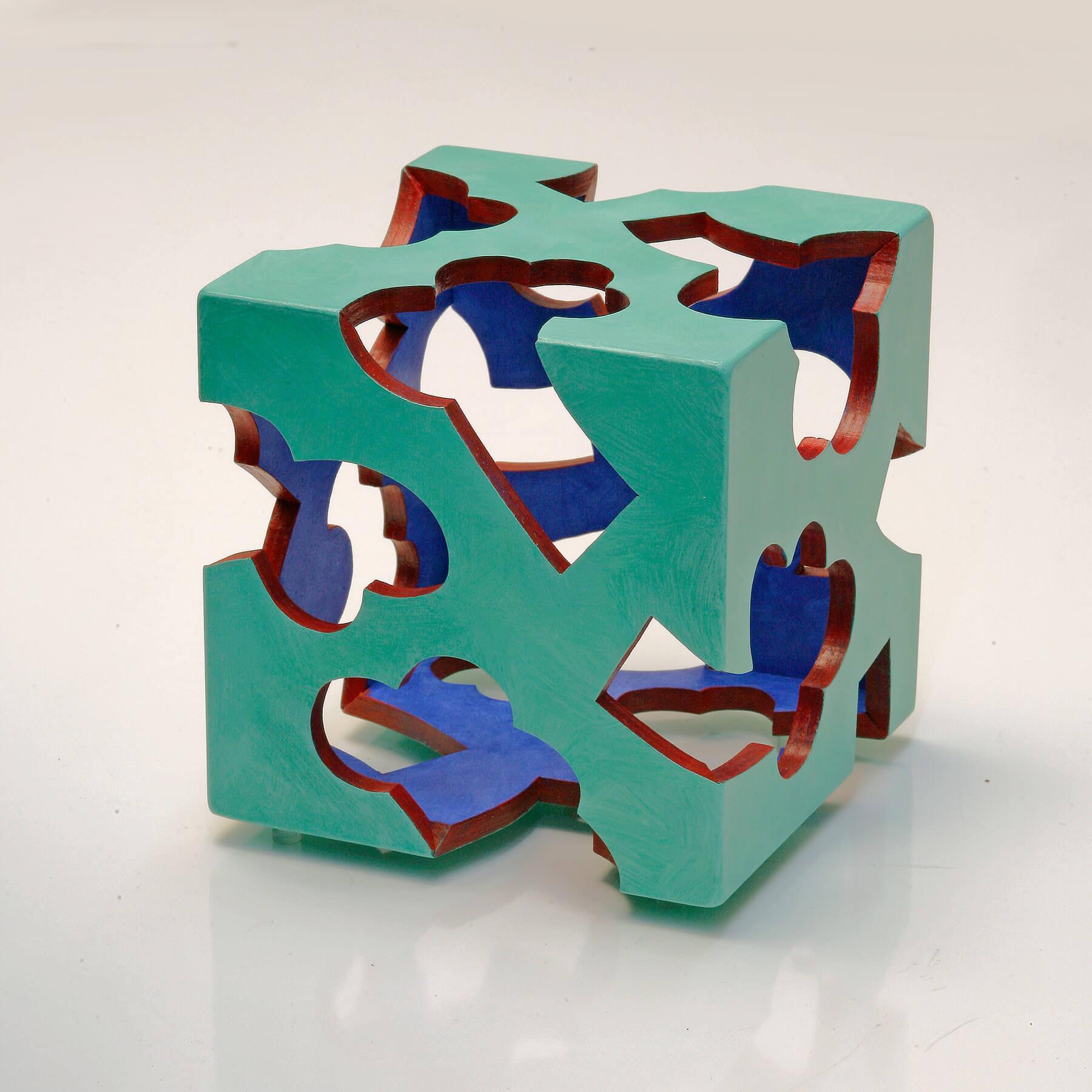 Barbara Jäger Skulpturen Außengrün Holz Acryl