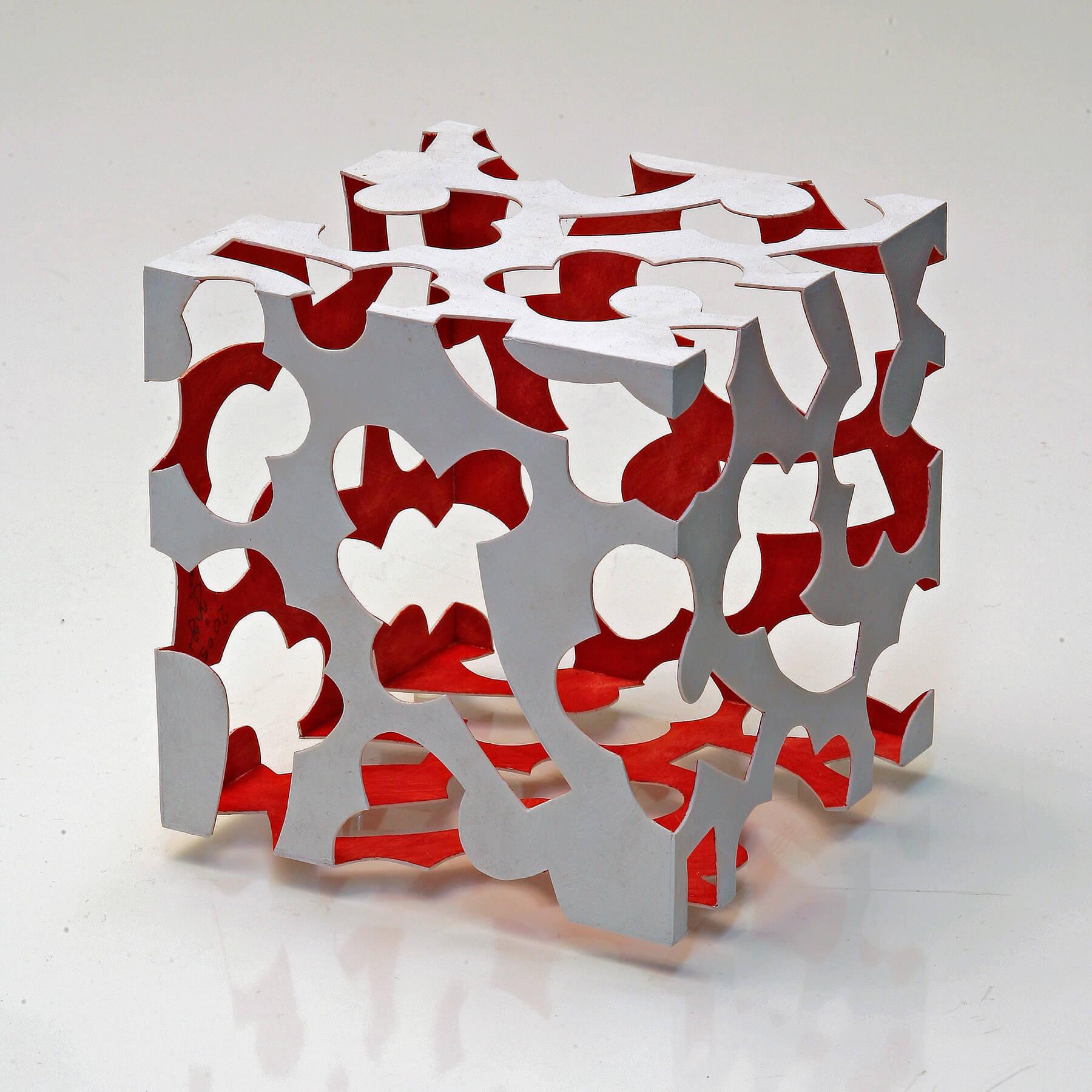 Barbara Jäger Skulpturen Kleiner roter Innenraum Kunststoff Acryl