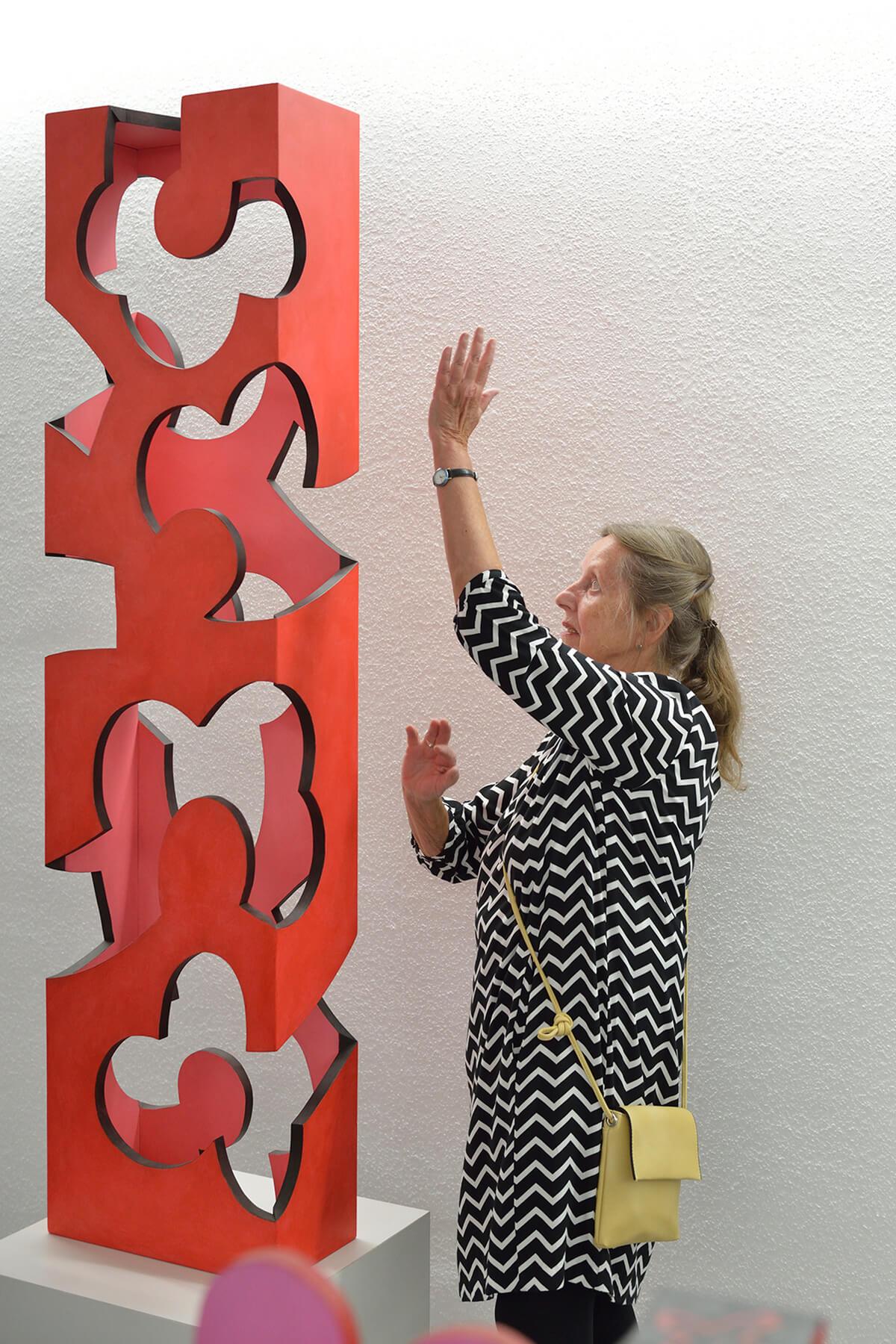 Barbara Jäger Skulpturen Hortus Holz Acryl