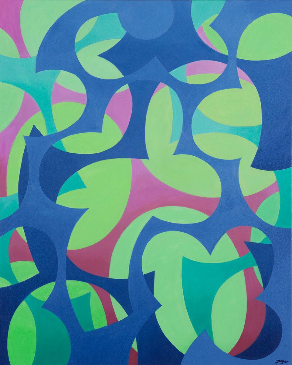 Barbara Jäger Gemälde Meistens Blau
