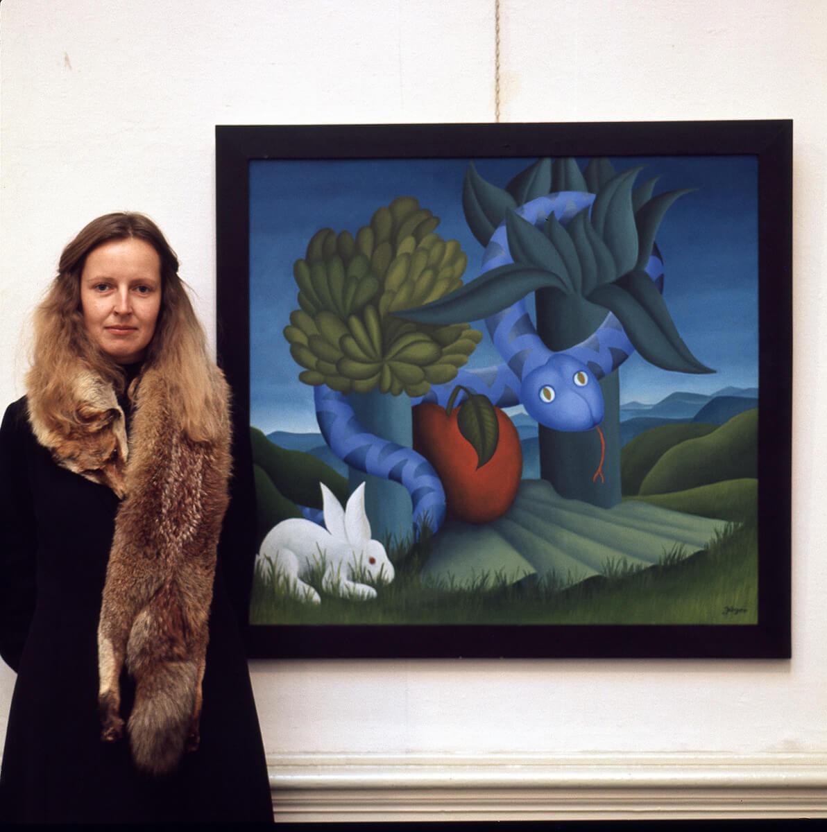 Barbara Jäger Karlsruhe Kleines Paradies 1973 Öl auf Leinwand