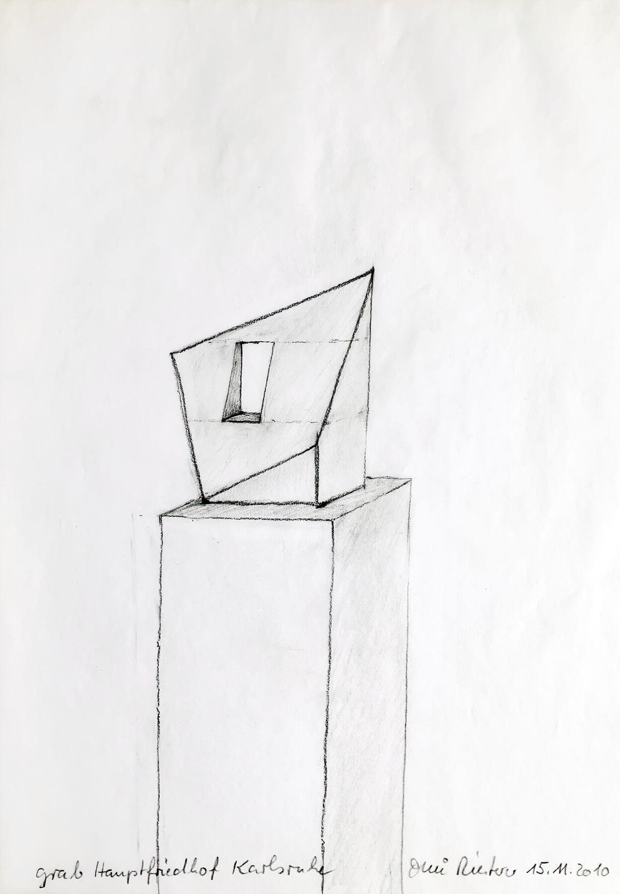 Bildhauer OMI Riesterer Karlsruhe Projekte Fenster zum Licht Kunstprojekt Hauptfriedhof Karlsruhe