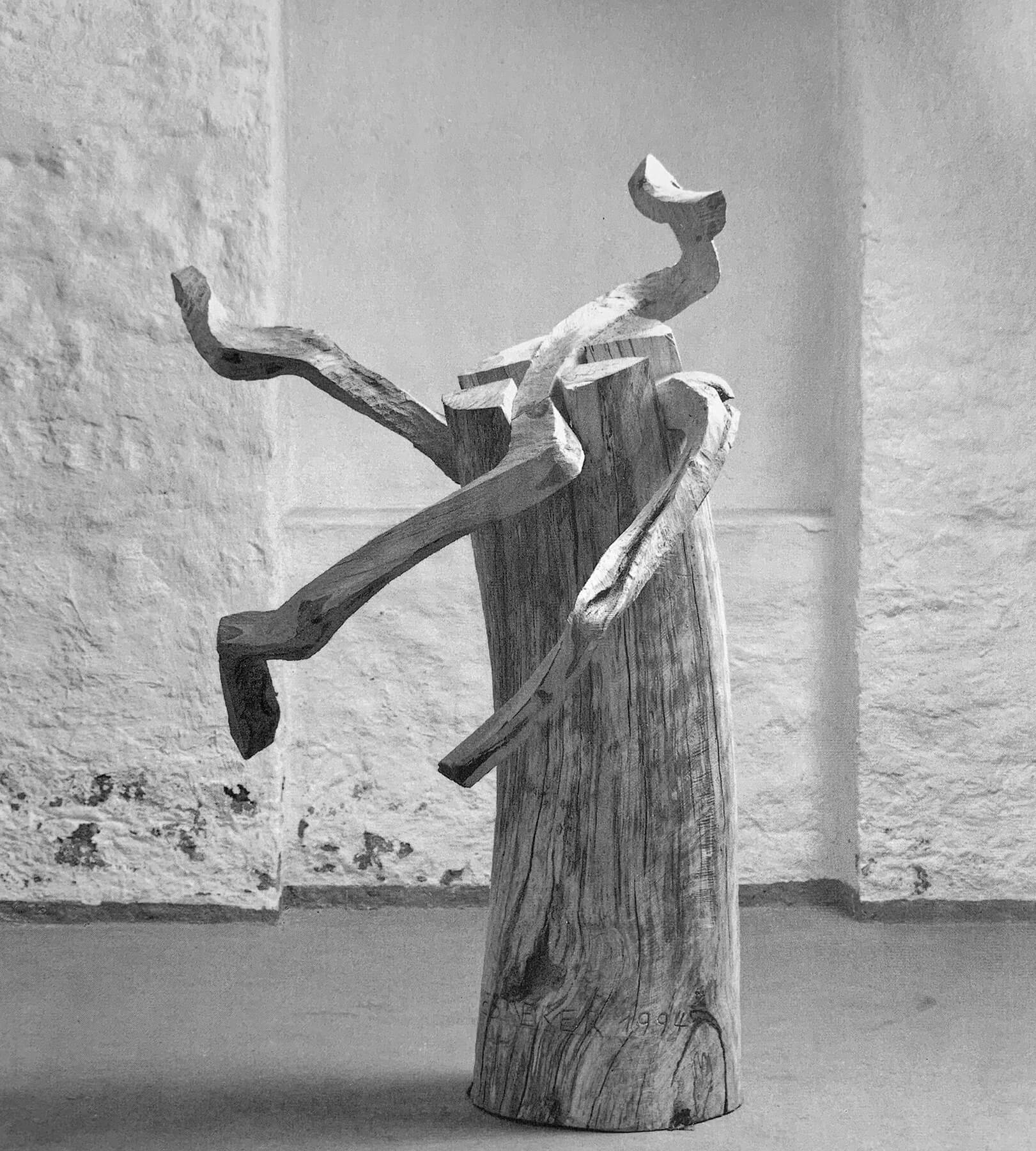 Bildhauer OMI Riesterer Skulpturen Irrweg Kiefer Buche
