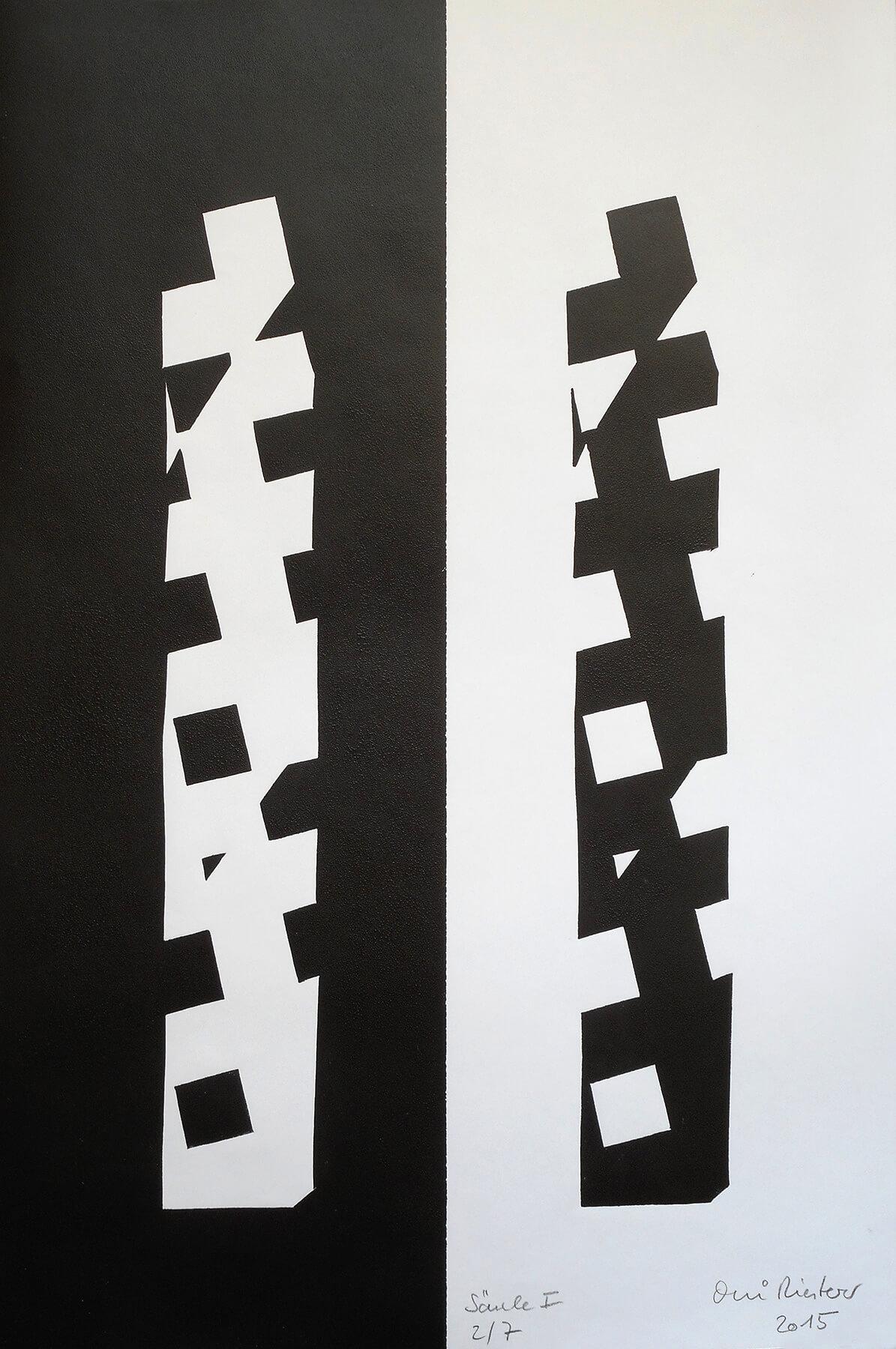 OMI Riesterer Grafik Karlsruhe Säule Hochdruck