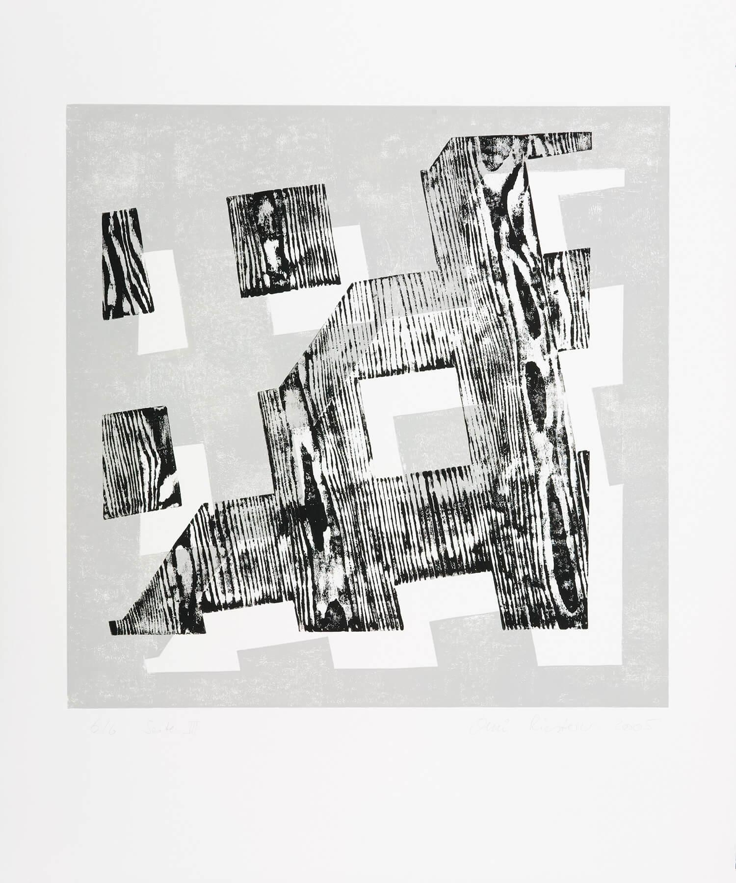 OMI Riesterer Grafik Karlsruhe Offener Würfelseiten Hochdruck Holzdruck