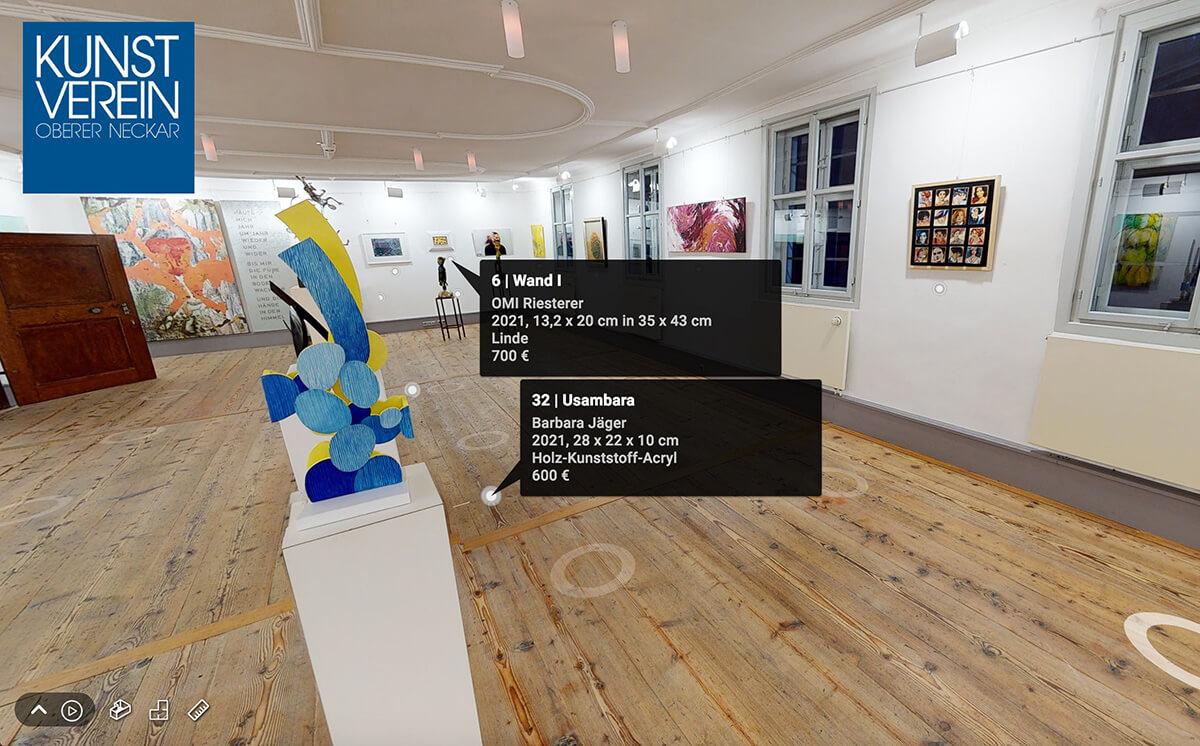 Virtuelle Gruppenausstellung in der Galerie im Kloster Horb des Kunstverein Oberer Neckar