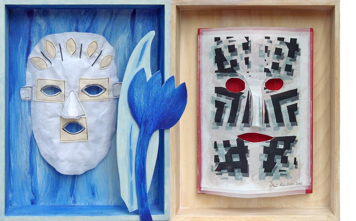 Barbara Jäger OMI Riesterer Mitgliederausstellung Maske Gesellschaft der Freunde junger Kunst Baden-Baden