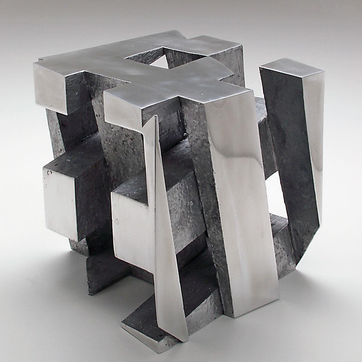 Bildhauer OMI Riesterer Skulpturen Würfel Aluminium