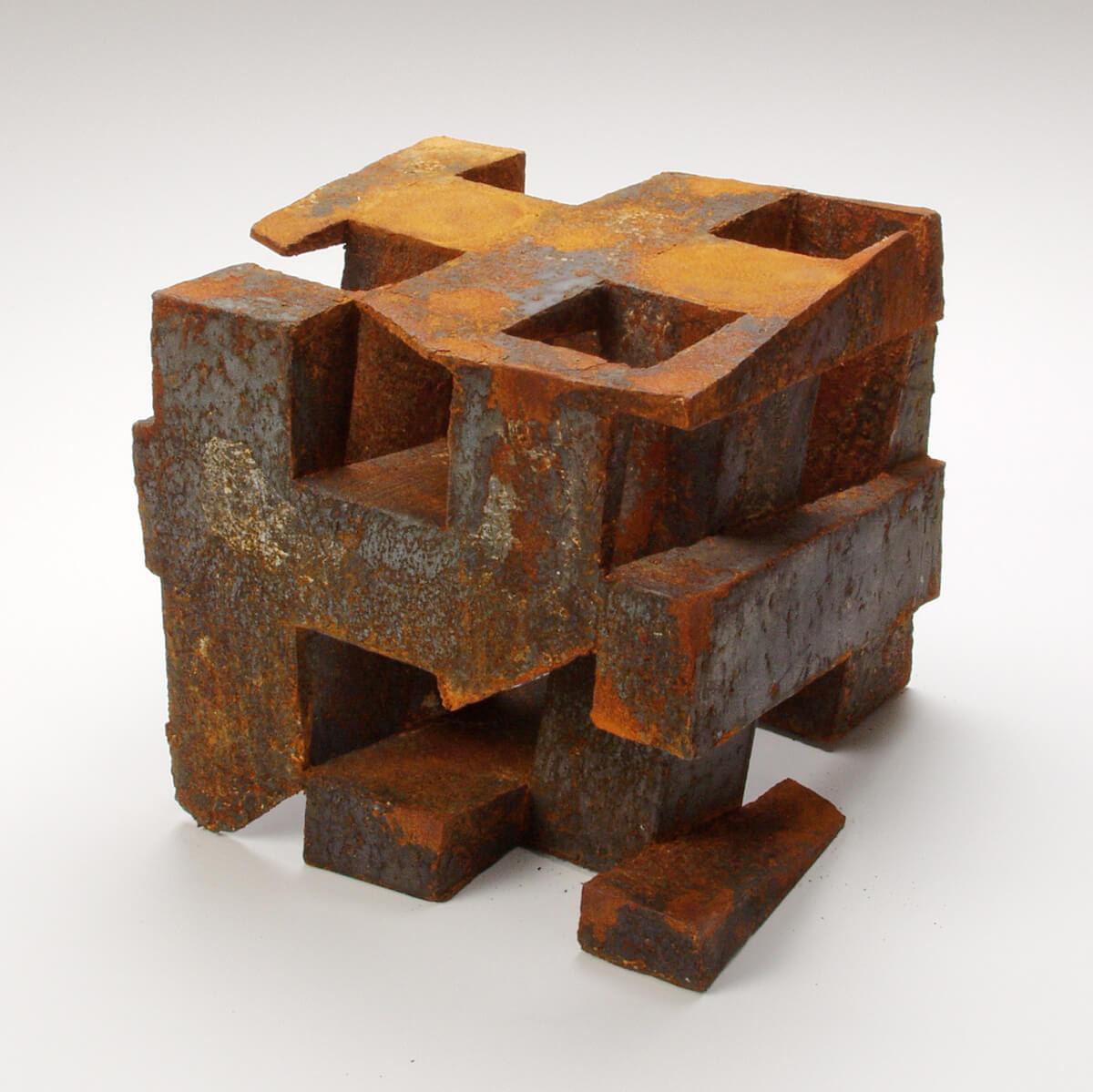 Bildhauer OMI Riesterer Skulpturen Würfel rostig Eisen